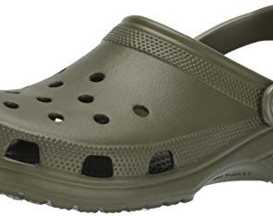 Crocs Classic Clog|Comfortable Slip On Casual Water Shoe, Army Green