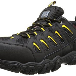 Skechers for Work Men's Blais Hiking Shoe, Black, 10.5 M US