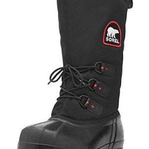 Sorel Men's Glacier Extreme Snow Boot,Black/Red Quartz