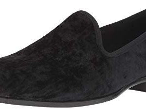 STACY ADAMS Men's Sultan Velour Slip-On Loafer, Black