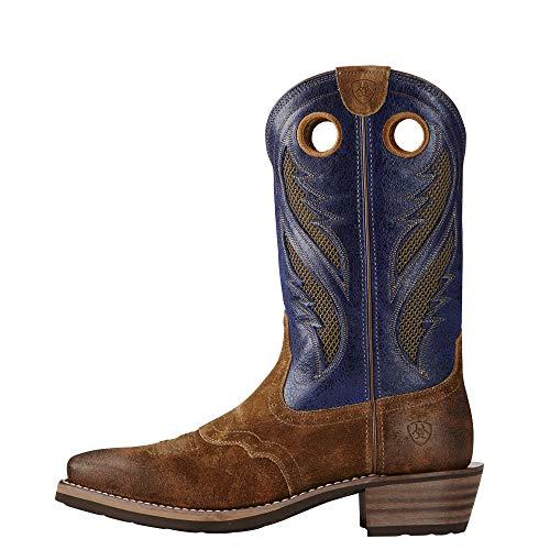 Ariat Men's Heritage Roughstock Venttek Western Cowboy Boot Ariat Men's Heritage Roughstock Venttek Western Cowboy Boot, Gingersnap, 10.5 D US.