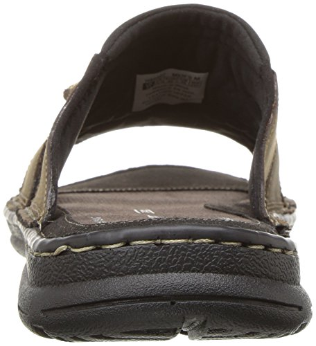 Rockport Men's Darwyn Slide Sandal, Brown Ii Leather Rockport Men's Darwyn Slide Sandal, Brown Ii Leather, 11 M US.