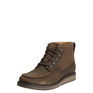 Ariat Men's Lookout Western Chukka Boot, Earth/Stone Suede