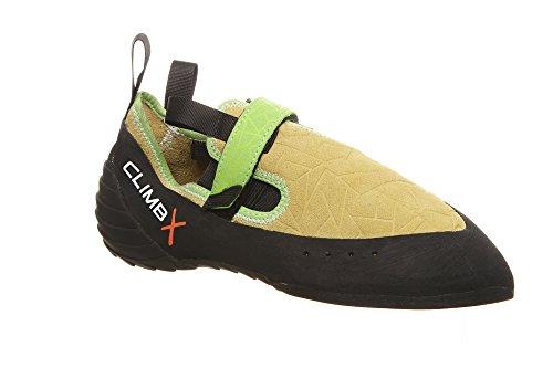 Climb X Zion Climbing Shoe with Free Sickle M-16 Climbing Brush (Men's 4, Yellow)