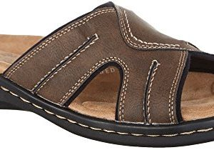 Dockers Men's Sunland Slide,Dark Brown Synthetic