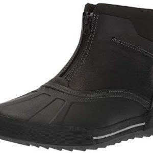 CLARKS Men's Bowman Top Ankle Boot, Black Leather