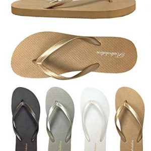 Wholesale Women's Bamboo Sandals Nice and Simple Beach flip Flop Pack