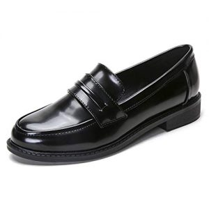 Women's Classic Penny Loafers Comfort Casual Round Toe Low Heel Slip on