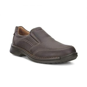 ECCO Men's Fusion II Slip On Casual Loafer Slip-On, Coffee