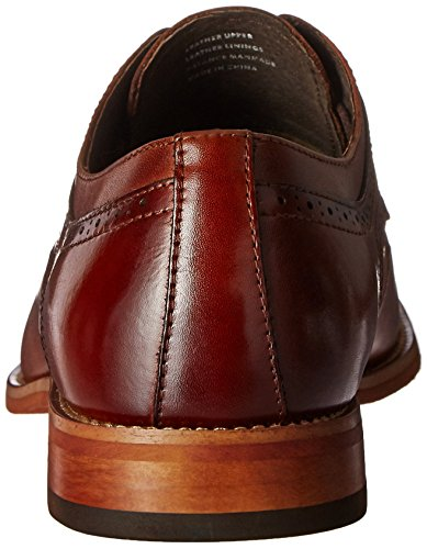 STACY ADAMS Men's Dickinson Cap Toe Oxford CLASSIC STYLE: Cap-toe oxford that includes burnished brogue perforated trims and blind-eyelet lacing COMFORT: Fully cushioned reminiscence foam insole for superior padded comfortable consolation and shock absorption DURABILITY: Lightweight building with prolonged sturdiness with breathable linings QUALITY SOLE: Flexible contrasting outsole with sew detailing on low stacked heel PERFECT FIT: Fit tip - If in between two sizes go for bigger dimension STACY ADAMS Men's Dickinson Cap Toe Oxford, Cognac, 9 M US.