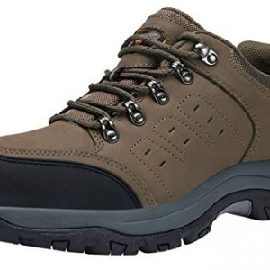CAMEL CROWN Mens Hiking Shoes Low Cut Boots Leather Walking Shoes