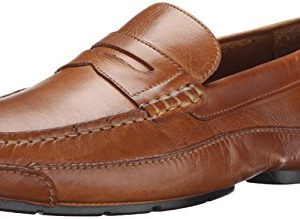 Rockport Men's Luxury Cruise Penny Tan Loafer 10.5 W (EE), Tan (Beige with Black Outsole), 10.5 W