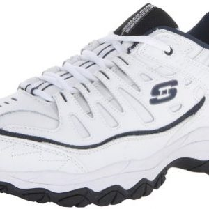 Skechers Men's Fit Reprint Oxford,White/Navy