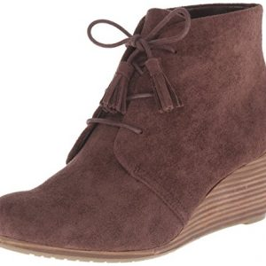 Dr. Scholl's Shoes Women's Dakota Boot, Dark Brown Microfiber Suede