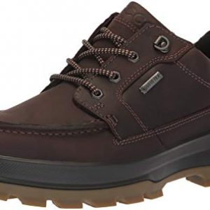 ECCO Men's Rugged Track Gore-TEX Moc Tie Hiking Shoe, Mocha, 46 M EU (12-12.5 US)