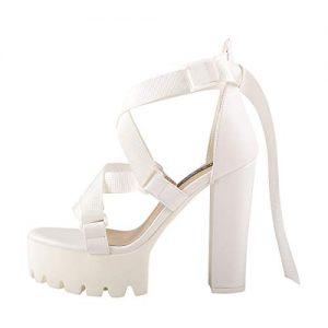 Onlymaker Ankle Strap Platform Sandals for Women