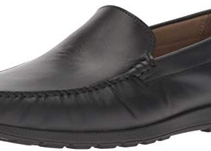 ECCO Men's Reciprico Moc Driving Style Loafer, Black