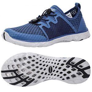 ALEADER Mens Walking Shoes Aquatic Sneakers for Beach