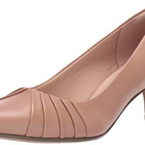 CLARKS Women's Linvale Crown Pump, Praline Leather, 70 M US