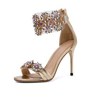 Mayou Women's Stiletto Heeled Sandal, High Heel Summer Sandal