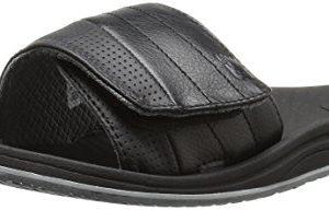 New Balance Men's Recharge Slide Sandal, Black/Grey