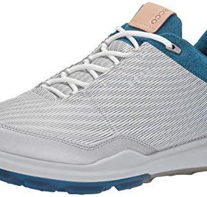 ECCO Men's Biom Hybrid 3 Gore-Tex Golf Shoe, White/Olympian Blue