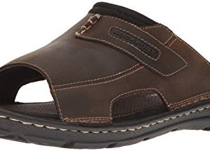 Rockport Men's Darwyn Slide 2 Sandal, Brown Ii Leather