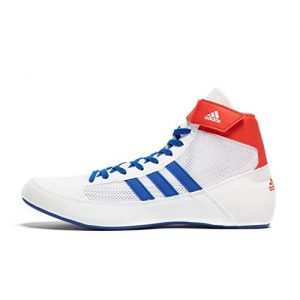 adidas Havoc Mens Adult Wrestling Trainer Shoe Boot White/Blue/Red