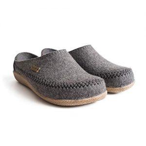 HAFLINGER Unisex Fletcher Wool Clogs, New Grey