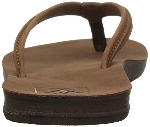 Reef Women's Sandals Woven | Slim Woven Flip Flops for Women Reef Women's Sandals Woven | Slim Woven Flip Flops for Women With Cushion Bounce Footbed | Waterproof, Tobacco, 8.