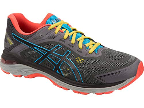 ASICS Men's GT-2000 7 Trail Running Shoes ASICS Men's GT-2000 7 Trail Running Shoes, 11M, Dark Grey/Black.