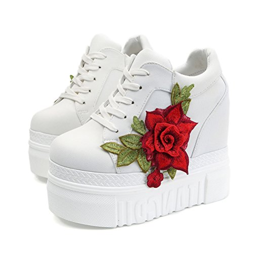 ACE SHOCK Women Fashion Platform Sneakers Wide Width High