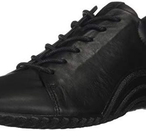 ECCO Women's Women's Vibration 1.0 Toggle Oxford Flat, Black
