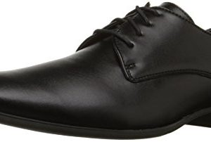 Calvin Klein Men's Brodie Oxford Shoe, Black Burnished Dress Calf