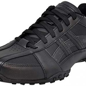 Skechers Men's Citywalk Malton Oxford Sneaker, Triple Black