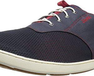 OLUKAI Mens Nohea Moku Trench Blue/Deep Red Sneaker