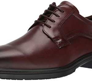 ECCO Men's Lisbon Plain Toe Oxford, Cognac