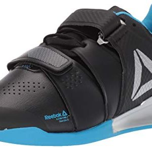 Reebok Men's Legacylifter Cross Trainer Black/Cyan/Silver 10 M US