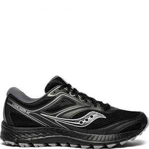 Saucony Men's VERSAFOAM Cohesion TR12 Trail Running Shoe, Black/Grey, 13 M US
