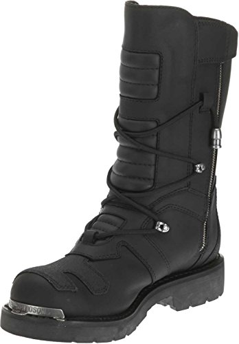 Harley-Davidson Men's Axel 10-Inch Black Motorcycle Boots Harley-Davidson Riding Appropriate* Men's Axel black leather-based motorbike Engineer boots. The greatest full grain leather-based uppers accessible with a full size gentle cushioned sock lining, and trade's greatest YKK locking inside zippers for ease of placing on and taking off. Designed with a novel lacing sample, three snugging straps and Harley emblem buckles, metallic Harley badging on toes and heels, and a Harley Bar & Shield emblem on the higher facet of the boot. Shaft peak: 10-inches, Heel peak: 1.5-inches.Finished with the perfect oil-resistant rubber outsoles and heels accessible, designed to supply optimum traction, consolation and efficiency. The boot's sole, insole and higher are certain utilizing resoleable Goodyear Welt development processes, essentially the most labor intensive and sturdy development methodology accessible. Manufacturer Part Number D96035.
