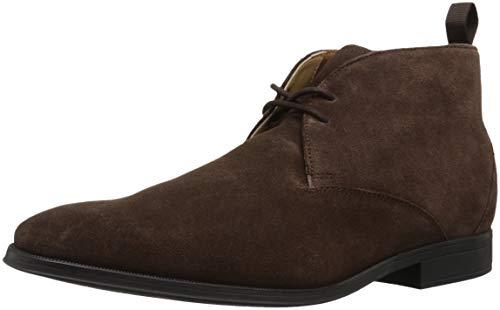 CLARKS Men's Gilman Mid Fashion Boot, Dark Brown Suede, 085 M US