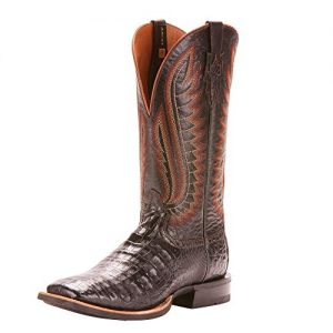ARIAT Men's Double Down Western Boot Black Caiman Belly