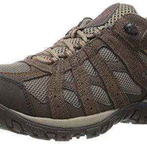 Columbia Men's Redmond Waterproof Hiking Shoe, Mud, Garnet Red, 15 2E US