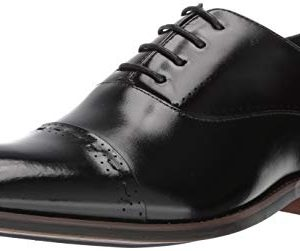 STACY ADAMS Men's Barris Cap-Toe Lace-Up Oxford, Black
