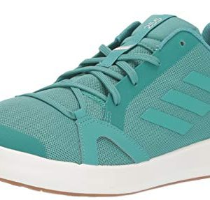 adidas Outdoor Men's Terrex Summer.RDY Boat Water Shoe, True Green/Chalk White, 14 M US