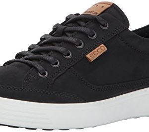 ECCO Men's Soft 7 Fashion Sneaker,black,44 EU / 10-10.5 US