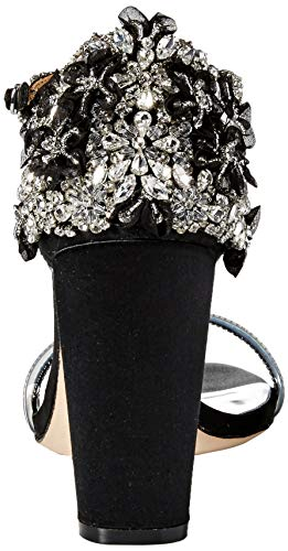 Badgley Mischka Women's Fernanda Heeled Sandal Black Satin 6.5 M US Badgley Mischka Women's Fernanda Heeled Sandal Black Satin 6.5 M US