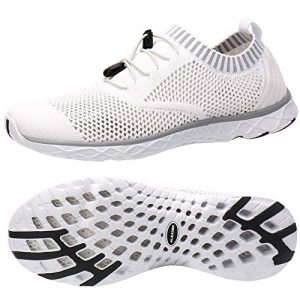 ALEADER Men's Adventure Aquatic Water Shoes White/Gray