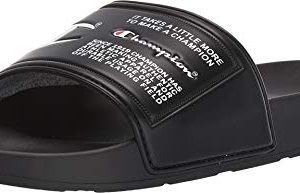 Champion Ipo Jock Mens Black Synthetic Slides Slip On Sandals Shoes