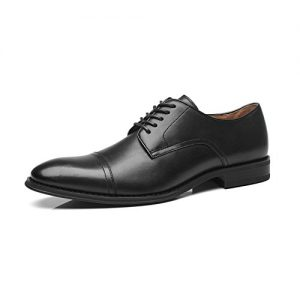 La Milano Mens Leather Updated Classic Cap Toe Oxfords Lace Dress Shoes